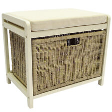 WICKLOW - Laundry Hamper / Shoe Storage Stool - Cream / Buttermilk KYS36010