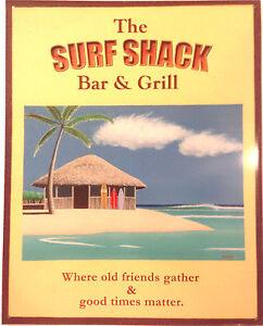 Friends Gather & Good Times Matter Metal Tin Beach Sign Home Bar Wall Art Poster