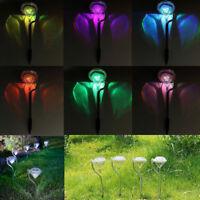 Stainless Steel LED Solar Diamond Stake Light Garden Path Border Lantern Lamp