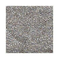 Miyuki Seed Beads 11/0 Silver Lined Crystal AB 11-1001 Glass 24g  Size 11