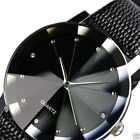 Leather Band Mens Military Luxury Stainless Steel Dial Quartz Wrist Watch Sport