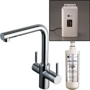 InSinkErator 3 in 1 Boiling Hot, Standard Hot & Cold Water Chrome Tap + Neo Tank