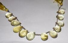 171 cts 100% Natural  Lemon Citrine Teardrop Briolette Loose Beads #yctb03