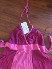 Guess Pink Halter Tank Top Dress Rasberry Wine Cotton M