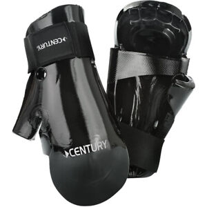 Century Kids Martial Arts Student Hook and Loop Sparring Gloves - Youth - Black