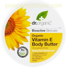 Dr Organic Vitamin E Body Butter Super Rich Moisturiser 200ml