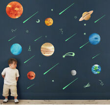 Wall Stickers Glow In The Dark 9 Planets Mars Space Bedroom Room Decor DIY Gift