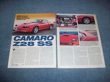 "1996 Camaro Z/28 SS Vintage Info Article ""Serving Up A 310hp Brute.."""