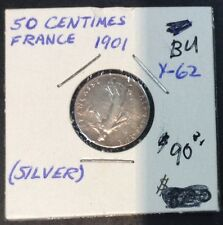 1901 France 50 Centimes ( Silver)