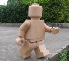 Handcrafted 28cm Wood Lego Minifigure Brick Robot made with Beech Wood material