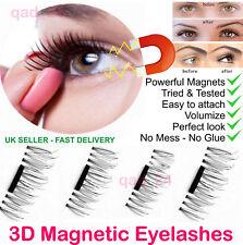 UK Magnetic EyeLashes False Magnet Eye Lashes Natural Extensions Reusable 3D
