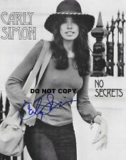 CARLY SIMON 8X10 AUTHENTIC IN PERSON SIGNED AUTOGRAPH REPRINT PHOTO PICTURE RP