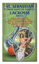 St. Sebastian Lacrosse Medal Necklace, Keeping GOD in Sports!