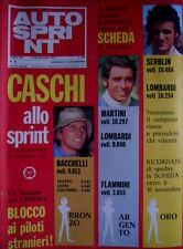 Autosprint 46 1974 Caschi allo sprint: i voti Bacchelli, Martini, Serblin