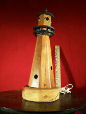 Nautical Hand Made Wooden Electrified Lighthouse Model