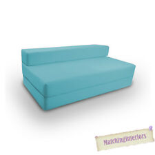 Blue Budget Cotton Folding Chair Block Filled Double Z bed Fold Out Sofabed Bed