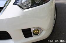 09-13 Acura TSX Yellow Fog Light Overlays Tint Precut Vinyl Film Mugen Spoon 2.4