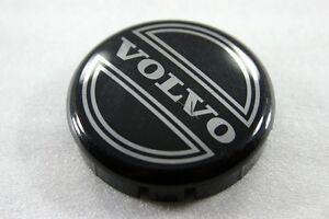 "VOLVO 90 80 940 960 S80 S90 3546923 NEW WHEEL  BLACK 2.5"" CENTER CAP 92-09"