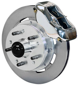 """WILWOOD DISC BRAKE KIT,FRONT,41-56 PACKARD,11.75"""" ROTORS,POLISHED CALIPERS"""