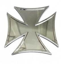 "1 Custom Chrome ""Iron Cross"" Adhesive 3D Emblem - Hotrod Ratrod Hot Rat Rod"