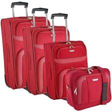 Travelite Orlando 2-wheels Trolley suitcase luggage set 4 pcs. 28.5 cm (Rot)