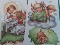 2 UNUSED Vtg ANGELS 1950-60s CHRISTMAS GREETING CARDS