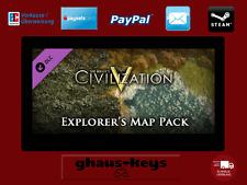 Civilization V 5 Explorer's Map Pack Steam Download Key Digital Code [DE] [EU PC
