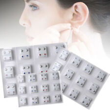 12 Pairs Steel Crystal Surgical Piercing Ear Stud Earrings for Piercing Gun Tool