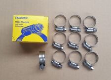 TRIDON WORM DRIVE HOSE CLAMPS Pack of 10 ALL STAINLESS STEEL 18mm to 32mm HAS012