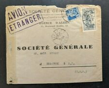 1944 Algeria Censored Airmail Cover to New York City USA