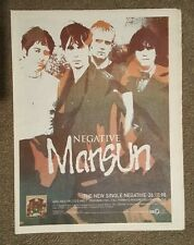 Mansun Negative  1998 press advert Full page 30 x 40 cm mini poster