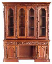 1:12 Scale Miniature Resolute Oval Office Hutch & Credenza - (Mahogany/Walnut)