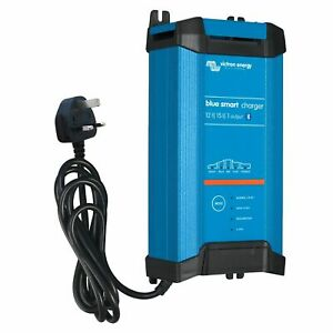 Victron 15A 12V Blue Smart IP22 mains battery charger with Bluetooth (UK plug)