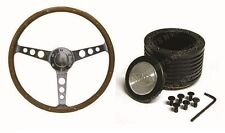 Holden HT , HK , HG   SAAS Classic Steering Wheel 365mm Wood Grain & Boss Kit