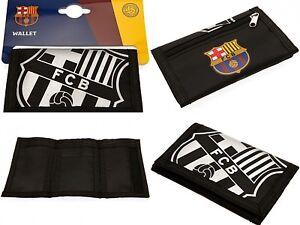FC BARCELONA OFFICIAL CLUB CRESTED FC NYLON POCKET MONEY WALLET CASH & CARD FCB