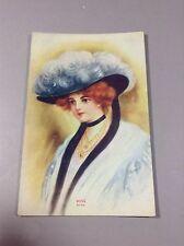Vintage Postcard Portrait Lady Rose 3703 Unused Condition 1910