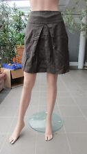 CINQUE - süßer Wollrock, große Kellerfalte, braun, feine Streifen, Futter, Gr.40