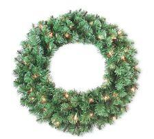 Holiday Wonderland Valley Pine Pre-Lit Artificial Wreath, 24 Inch