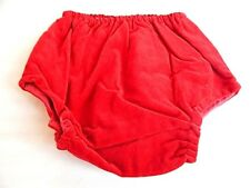 Nos Vintage 1970s Red Velveteen Bottoms Panties Briefs Underpants Baby Tot 3-6Mo