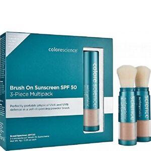 Colorescience Sunforgettable Brush-On Sunscreen SPF 50 Medium 3PC MultiPack