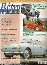 RETRO HEBDO 87 VOLKSWAGEN KARMANN GHIA 1967 CITROEN C6 G CORBILLARD OPEL 1900 GT