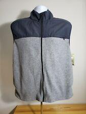 Old Navy Jacket Vest Men's Medium Gray Nylon Fleece Full Zip