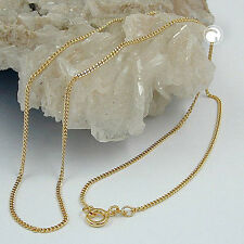 NEW 9K SOLID GOLD Diamond Cut Curb Chain Necklace, 1.3mm, 50cm (501401-50)