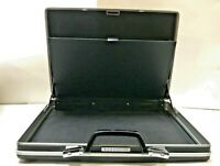 Vintage Samsonite Black Silver Hard Shell Slim Briefcase Luggage No Keys