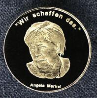 """Wir schaffen das."" Angela Merkel 2018, Medaille, Ag .999, 1/2 Oz  Geschenk"