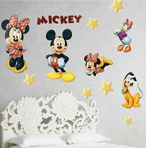 Mickey Minnie Mouse Clubhouse 3d Smashed Wall View Sticker Poster Vinyl 6-8//3