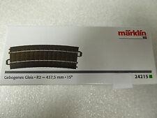 Märklin HO 24215 C Gleis gebogene R2 = 437,5 mm / 15° Neuware