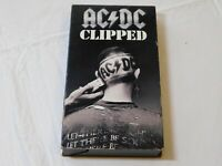 AC/DC Clipped VHS Video Tape 1990 Atlantic Recording Activision