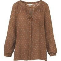 Fat Face - Women's - Carly Scatter Floral Blouse - Brown - Size 6 - BNWT