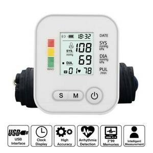 Digital Blood Pressure Monitor Automatic Pulse Upper Arm with Backlight Voice 🔥